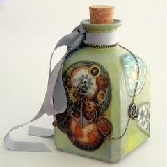 Steampunk γυάλινο μπουκάλι
