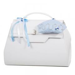 Τσάντα λευκή με καράβι