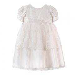 Μεταξωτό βαπτιστικό φόρεμα