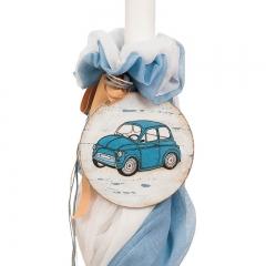 Λαμπάδα βάπτισης με αυτοκινητάκι